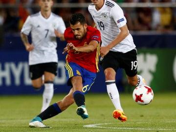 Ceballos, durante el partido contra Alemania