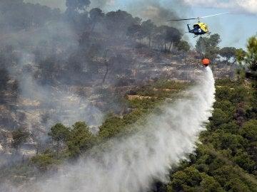 Estabilizado el incendio de Sierra Calderona tras arrasar 1.200 hectáreas
