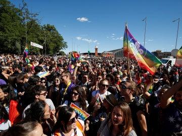 Celebración del orgullo Gay en Atocha