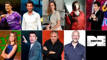 Algunos de los rostros de Atresmedia TV