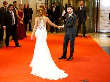 Rosa Clará firma el vestido de Antonella Roccuzzo