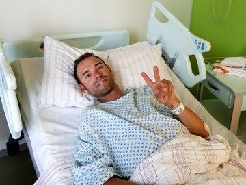 Alejandron Valverde, en el hospital