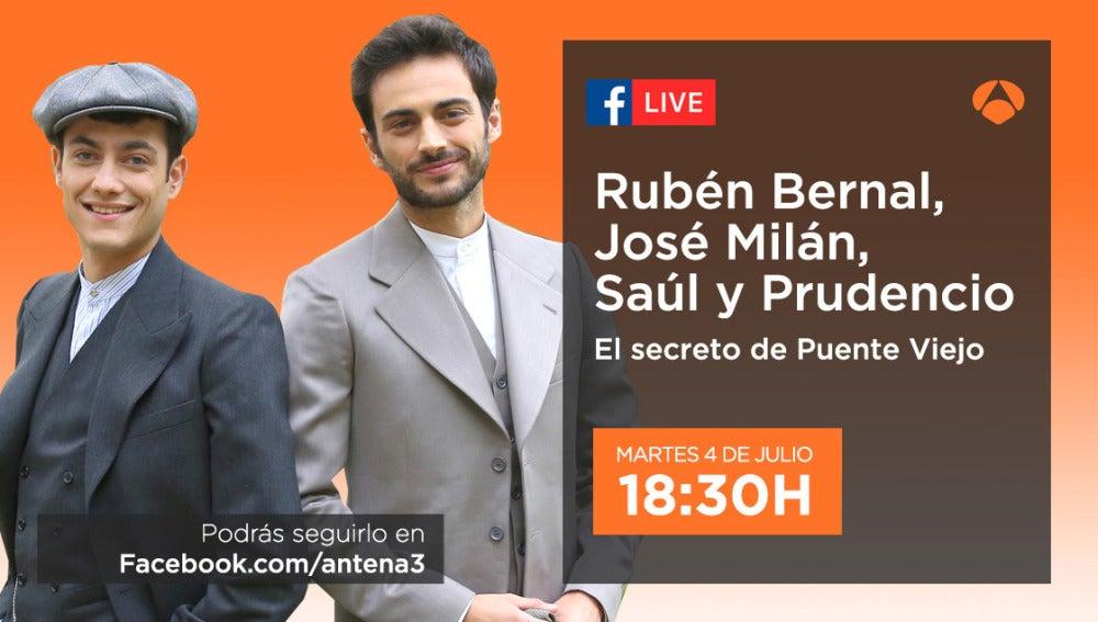 Rubén Bernal y José Milán estarán en directo mañana con los seguidores en Facebook Live