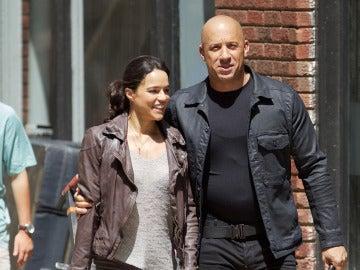 Michelle Rodríguez junto a Vin Diesel