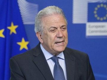 El comisario europeo de Migración, Dimitris Avramópoulos