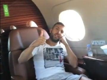 Jordi Alba, hablando en inglés en un vídeo de Piqué