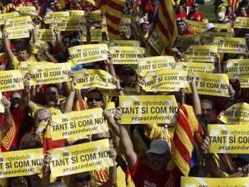 Manifestación a favor del referéndum