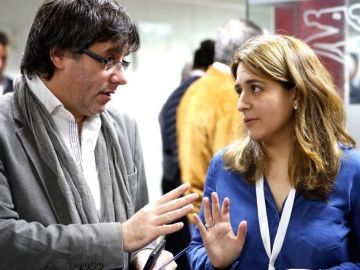 Carles Puigdemont y Marta Pascal