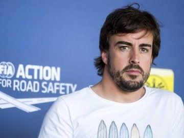 Fernando Alonso, en un acto en Viena