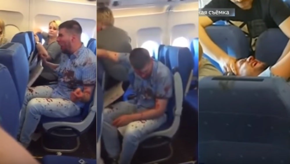 Un hombre causa un altercado en un avión