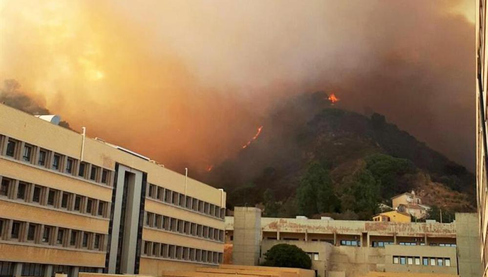Incendio en Sicilia