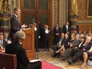 Felipe VI interviene ante el Parlamento británico