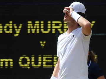 Andy Murray, durante su partido contra Querrey