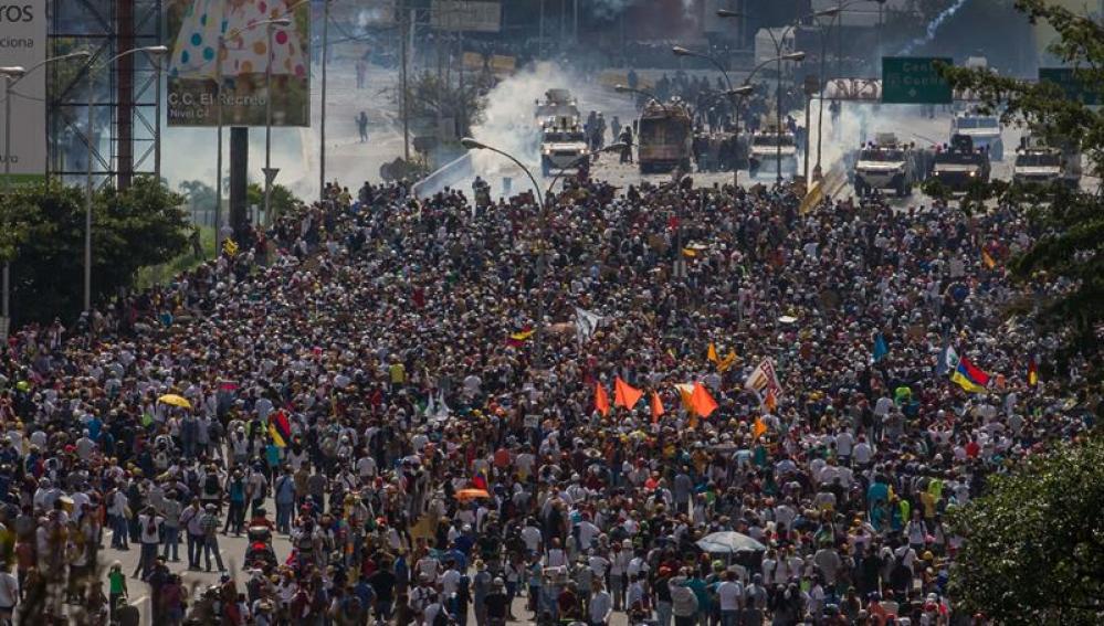 Manifestaciones contra Maduro