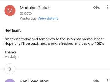 El correo electrónico que la mujer le mandó a su jefe