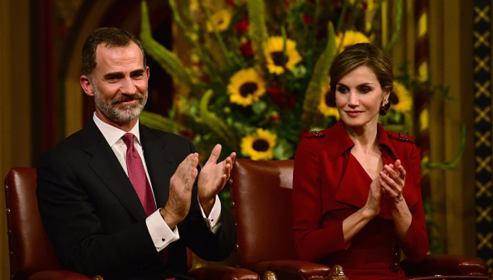 El Rey Felipe VI y la Reina Letizia en el Parlamento británico