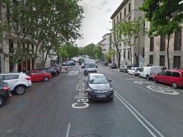 Vista de la madrileña calle de Atocha