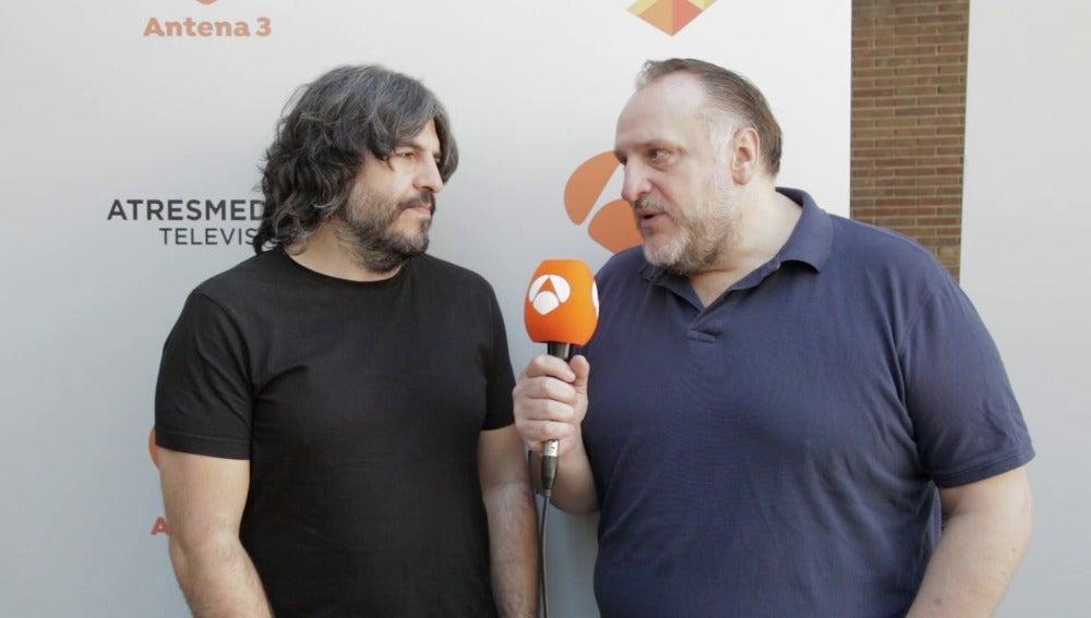 """Albizu y Vaquero: """"Con muchas ganas y deseando que se estrene de 'Me resbala'"""""""