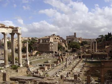 Imagen del Palatino, el barrio más elegante de la Roma antigua