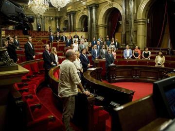 El Parlament guarda un minuto de silencio en homenaje a Miguel Ángel Blanco
