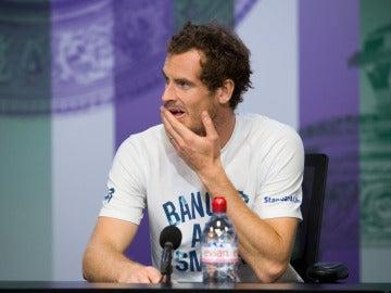Andy Murray, en rueda de prensa