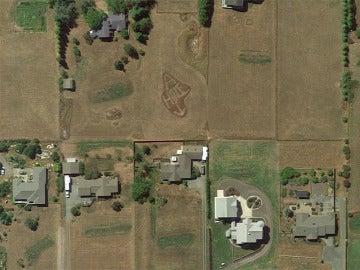 Mensaje visto desde el Google Earth