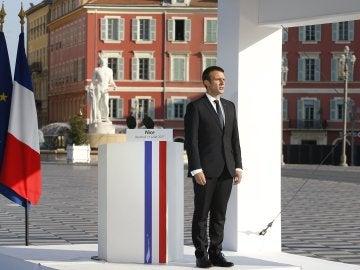 El jefe del Estado francés, Emmanuel Macron