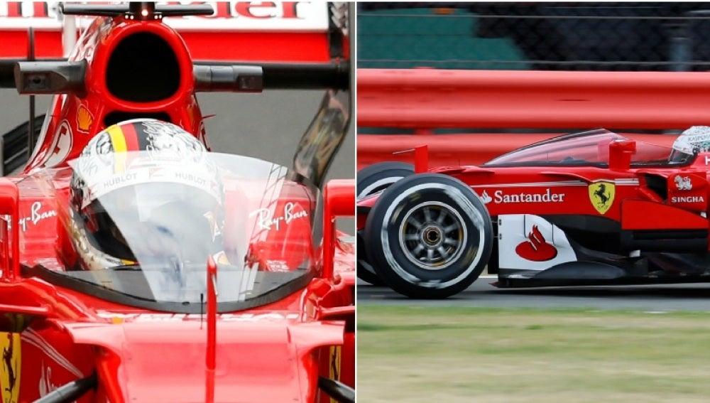 El 'Shield' en el Ferrari de Vettel en Silverstone