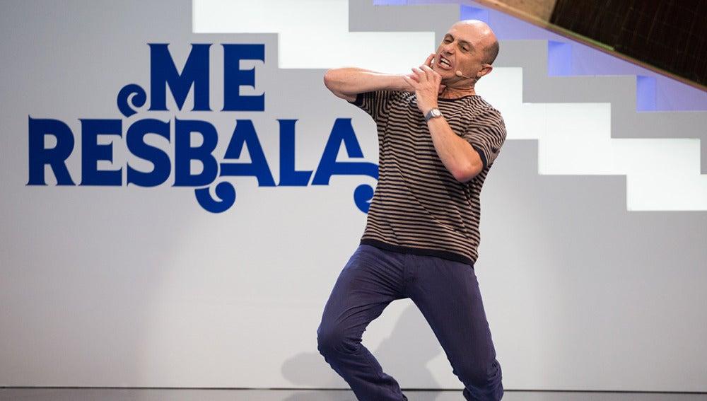 Así ha imitado Pepe Viyuela a Zinedine Zidane en la prueba de la fotomímica