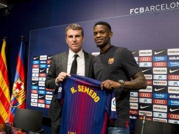 Semedo presentado con el FC Barcelona