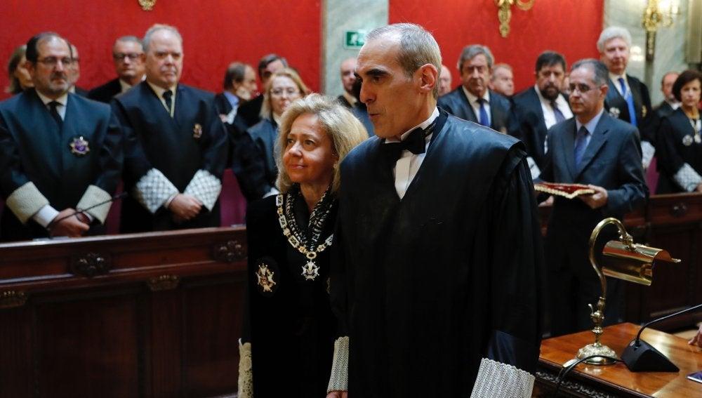 El nuevo jefe de Anticorrupción, Alejandro Luzón, durante la toma de posesión