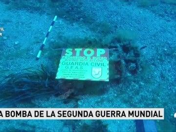 Hacen explotar una bomba de la Segunda Guerra Mundial hallada en aguas de Tabarca