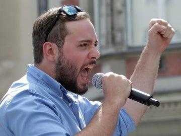 """Lorenzo Fiato, líder del grupo de extrema derecha """"Generación Identitaria"""""""