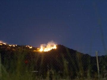 Incendio en la Sierra de Arroyo de San Serván