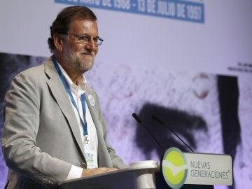 Mariano Rajoy en un acto en Bilbao