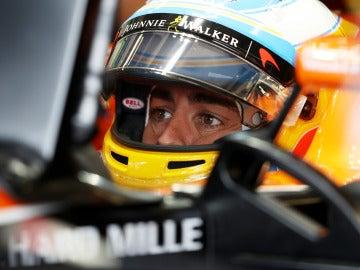 Fernando Alonso en GP de Gran Bretaña