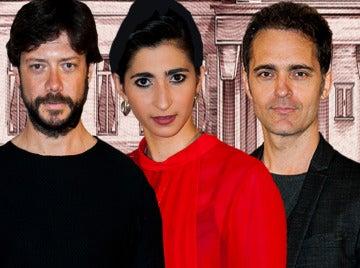 Alba Flores, Álvaro Morte y Pedro Alonso