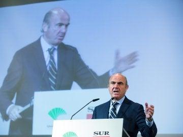 El Ministro de Economia, Industria y Competitividad, Luis De Guindos