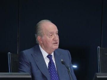 El Rey emérito Juan Carlos durante el discurso