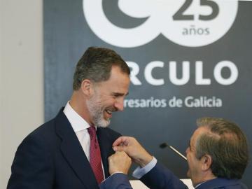 Felipe VI durante su visita a Galicia