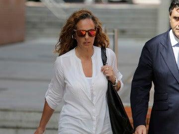Rocío Carrasco llegando a los juzgados