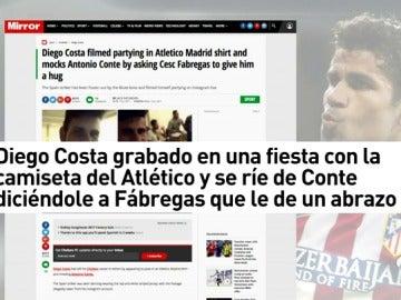 Diego Costa sigue rompiendo la cuerda que le une al Chelsea
