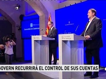 """La Generalitat presentará un recurso ante el Constitucional contra """"la amenaza"""" del Gobierno de cortar el Fondo de Liquidez Autonómica"""