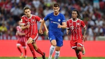 Morata durante el encuentro contra el Bayern