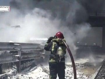 Un camionero fallece y otro resulta herido en un accidente ocurrido en la A-7 a la altura de Nules