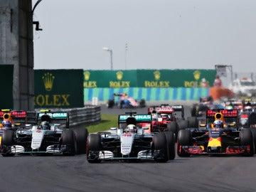 Momento de la salida del GP de Hungría de 2016