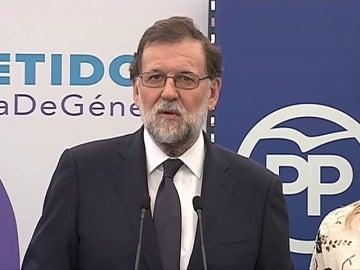 """Rajoy tras su declaración está """"contento de haber colaborado con la Justicia"""""""