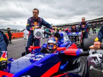 Carlos Sainz, antes del GP de Gran Bretaña