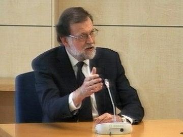 Mariano Rajoy declarando