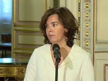 Sáenz de Santamaría sostiene que la voluntad política será la clave para alcanzar acuerdos en la financiación autonómica